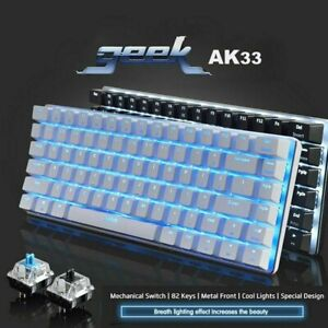 RGB Mechanical Keyboard 82 Keys Layout Blue Black Switches Wired LED Backlit