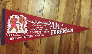Boxing Pennant Celebrate World Championship Bout Muhammad Ali vs. George Foreman