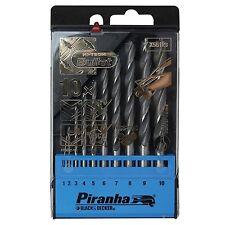 Piranha Hi-Tech Bullet HSS-CNC Metal 10 Piece Drill Set NEW