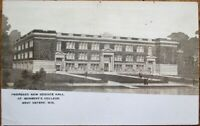 West Depere, WI 1920 Realphoto Postcard: St. Norbert's College Science Hall