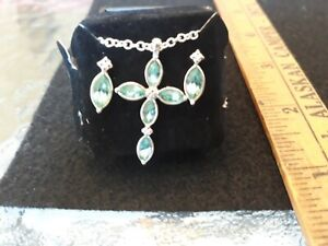 Avon cross birthstone neclace and earring set March