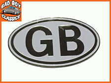 Metallo bianco GB Badge Emblema Autoadesivo classico, Kit Car, Hot Rod