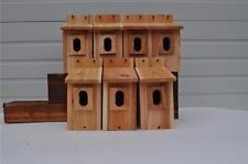 7 BLUEBIRD BIRD HOUSES NEST BOX CEDAR  PETERSON OVAL OPENING HANDMADE  FREE S/H