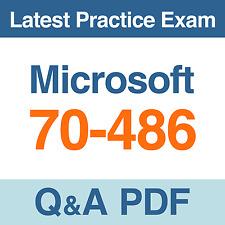 Microsoft ASP.NET MVC 4 Web Applications Practice Test 70-486 Exam Q&A PDF