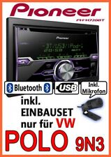 VW POLO 9n3 PIONEER 2din USB Bluetooth CD AUTORADIO Apple iPod iPhone Kit installazione