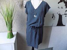 Shirtkleid weich fließend grau Gr. 44 NEU Kleid Longshirt b.young Tunika (13c)