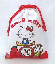 NEW! SANRIO Hello Kitty KAWAII Drawstring Bag Pouch Accessory Case JAPAN