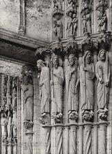 1927 Vintage FRANCE Paris Chartres Cathedral Statues Architecture Art HURLIMANN