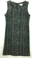 Coldwater Creek Dress Womans Size 12 Sleeveless Business Casual Black White