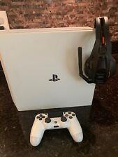Sony PlayStation 4 Pro 1TB Glacier White Console Headset Bundle 4K