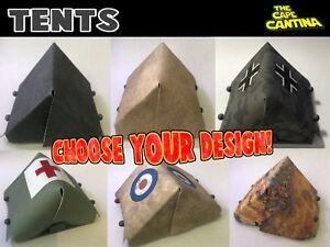 For Lego Custom Minifigure Star Wars Roman Vietnam WW1 World War 2 Army Tents