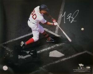 Mookie Betts Boston Red Sox Signed Autograph Swing Spotlight 16x20 Photo FANATIC
