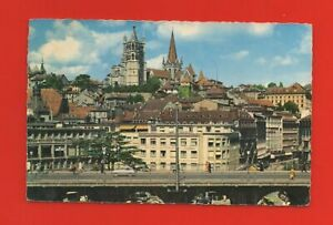 Switzerland - Lausanne - le Grand Bridge and The Cathedral (K7172)