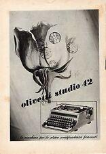 Pubblicità vintage Olivetti studio 42 macchina scrivere advertising reklame A7