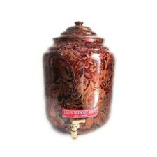 Premium Quality Printed Copper Water Dispenser with Copper Knob