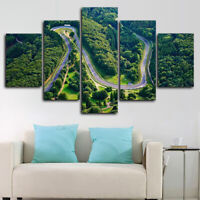 Framed Nurburgring Track Circuit Rally Poster 5 Pcs Canvas Print Wall Art Decor