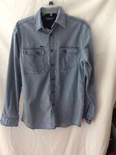 Roundtree & Yorke Long Sleeve Shirt ~ Small ~ Blue ~ Lightweight Work Shirt