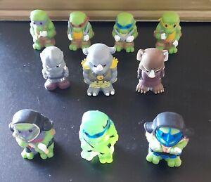 10 Teenage Mutant Ninja Hero Turtles Ooshies. Splinter Rocksteady Shredder Rare