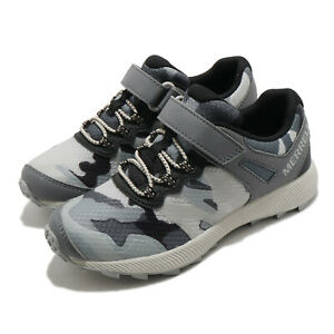 Merrell Nova 2 Grey Camo Black Kid Preschool Trail Running Shoes MK264723