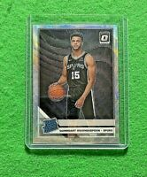 QUINNDARY WEATHERSPOON PRIZM SILVER WAVE ROOKIE CARD SPURS 2019-20 DONRUSS OPTIC
