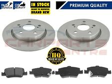FOR TOYOTA AURIS 1.4 1.6 2.0 D4D REAR 270mm SOLID BRAKE DISCS PADS 2006-2012