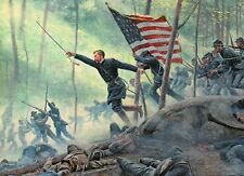 Chamberlain's Charge, 20th Maine, Gettysburg Battle, Military Civil War Postcard
