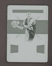 2018-19 National Treasures Reggie Miller Indiana Pacers 1/1 Black Printing Plate