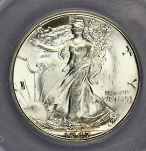 1947-D 1947 Walking Liberty Half Dollar ANACS MS65