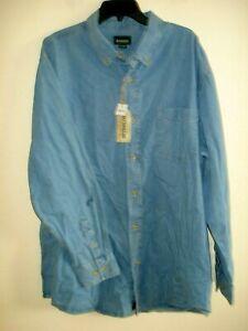 Mens Big & Tall Denim Shirt Size 2X Outdoor Life Cotton