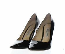 S44 Jimmy Choo Romy Black Patent Leather Pointed Toe Pumps Women's Sz 39.5 M