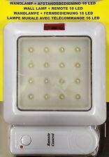 EF Wandlampe Lampe 16 LED mit Fernbedienung Leuchte Wandlicht Nachtlicht 10137