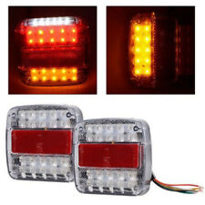 2x 26-LED Stop Rear Reverse Light Indicator License Plate Lamp For Truck Trailer