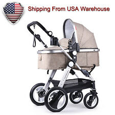 Cynebaby Baby Stroller Foldable Anti-shock Pram Baby Carriage for Infant Toddler