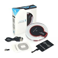 Qi Wireless Charger Charging Pad + Receiver Kit + Adapter For iPhone & Android