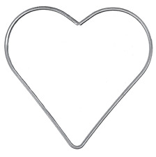 120mm Galvanised Metal Heart (aka Dreamcatcher Rings)