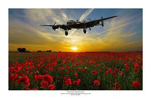 "WWII WW2 RAF RAAF RCAF Avro Lancaster Aviation Art Photo Print - 12"" X 18"""