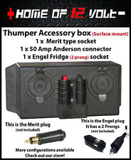 Thumper Accessory box Merit + Anderson + Engel Fridge Surface mount 12 Volt /24V