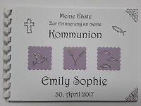 Gästebuch/Fotoalbum, Erinnerung, Konfirmation/Kommunion/Taufe, creme-lila, DinA5