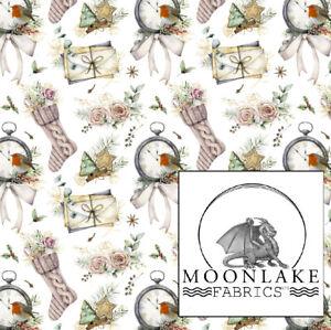 Christmas Robin  100% Quality Cotton Poplin Fabric * Exclusive *