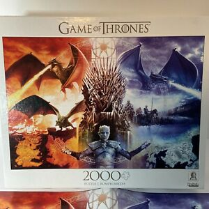 GAME OF THRONES: FIRE AND ICE HBO licensed 2000 Piece Snap Puzzle-Buffalo Games