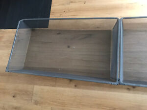 2 IKEA KOMPLEMENT Mesh baskets for wardrobe with pull-out rail, Dark Grey