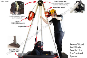 Rescue Tripod And Winch Bundle 12m For Confined Spaces