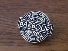 GENUINE BARBOUR INTERNATIONAL MOTORCYCLE CLUB BADGE