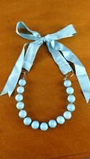 Spring summer jewelry Turquoise colour Ribbon adjustable Necklace statement