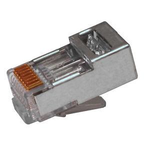 Platinum Tools EZ RJ45 Network Shielded Crimp Connectors 100020C CAT5e/6 Pack 50