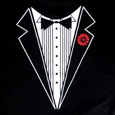 Tuxedo Fake Joke Fancy Hilarious Humor Funny Mens Black Cotton T-Shirt Tee