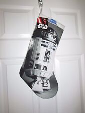 "Star Wars R2D2 Droid Christmas Stocking Printed Quilted Embroidered 20"" NWT!"