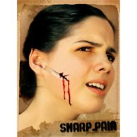 Fake Face Cut Wound For Adults - Razor Scar Application Gruesome Halloween