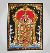 Indian Handmade Cotton Tapestry Lord Venkateswara Wall Hanging Yoga Mat Ethnic
