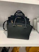 NWT Michael Kors Selma Medium Satchel Saffiano Leather Bag Black